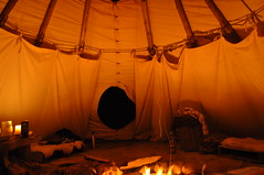 DSC_0368 (David.Sankey) Tags: catskills newyork newyorkstate autumn fall woods forest ny tipi teepee tent camping fire night