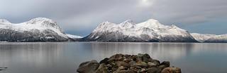 Ullsfjorden on a crisp winter day