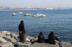 View of the Bosphorus (Wild Chroma) Tags: sea coast bosphorus women istanbul waterfront turkey