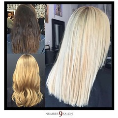 """A stunning transition to blonde ambition; amazing results from stylist, Amanda G. @thehaircolorexpert • <a style=""""font-size:0.8em;"""" href=""""http://www.flickr.com/photos/41394475@N04/30544106386/"""" target=""""_blank"""">View on Flickr</a>"""