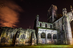 Kirkstall Abbey (Boystead) Tags: abbey kirkstall leeds nightshoot long exposure stars clouds lights gothic