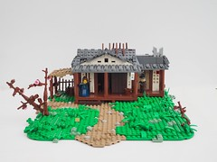 The Parting (W. Navarre) Tags: lego samurai parting japanese hans zimmer green cottage house tree cherry arch girl