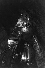 spiral (sixthofdecember) Tags: travel iceland snfellsnes vatnshellir vatnshellircave cave underground nikon nikond5100 tamron tamron18270 stairs stairway spiral bw blackandwhite