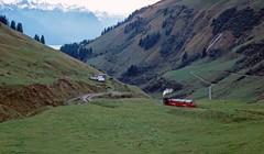 0-4-2RT no.14 descending the Rothorn, Switzerland. 08/10/2000. (Marra Man) Tags: brienzrothornbahn planalp oberstaffel 14 brb 800mmgauge