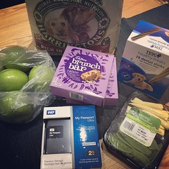 Couldn't sleep so went to Tesco. Weirdest early morning shop ever. #cerealbars #dogfood #fruitandveg #2TerrabyteHardDrive (Emma Gibbs) Tags: ifttt instagram shopping dogfood harddrive vegetables random