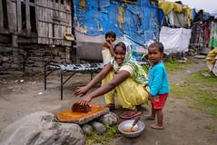 Kullu's Slum (Ash and Debris) Tags: ghetto women street people city emotion slum children urbanlife streetlife kulu poor child india woman life emotions indians kullu urban
