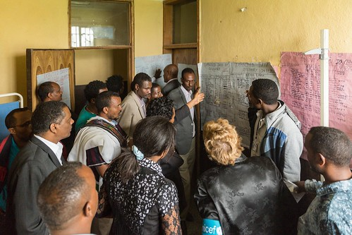 Ms. Gillian Mellsop, UNICEF Representative to Ethiopia visits Golesha Health Center at Raya Kobo woreda, Amhara region.