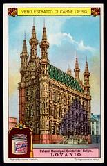 Liebig Tradecard S1170 - Town Hall, Leuven (cigcardpix) Tags: tradecards advertising ephemera vintage liebig architecture