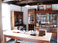 Doctor's medicine dispensary 2027 (2) (Tangled Bank) Tags: kaitakunomura historical village sapporo japan kaitaku no mura japanese asia asian old classic heritage vintage history tradition traditional culture cultural dentist office clinic interior