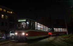 Night edition (mzahariev) Tags: sofia public transport t6a5 tram tramway 22 4157 4155