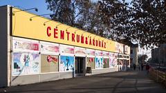 A bevsrlkzpont Budafokon, a vgn a 47. villamos vonaln. (imgo the ill iterator) Tags: budapest buda budafok varoshaz ter shopping mall colour color saturated street magyarorszag hungary hungria europe europa avrupa evropa