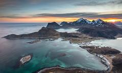Offersøykammen (Dani℮l) Tags: offersøykammen daniel bosma norway lofoten atlantic ocean fjord coast landscape mountain water sunrise
