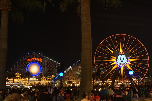 "Paradise Pier at Night • <a style=""font-size:0.8em;"" href=""http://www.flickr.com/photos/28558260@N04/20689727285/"" target=""_blank"">View on Flickr</a>"
