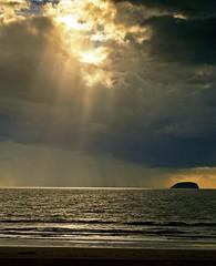 Steep Holm (c.richard) Tags: sea sky sunlight rain bristol somerset olympus westonsupermare bristolchannel holidayresort chann olympusep5 45mmolympusf18