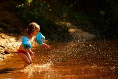 H2wOw (Michael Angelo 77) Tags: summer netherlands girl creek fun toddler splash lutterzand splashingwater