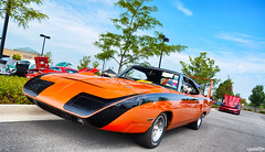 1970 Plymouth Road Runner Superbird (Chad Horwedel) Tags: orange classic car illinois plymouth naperville roadrunnersuperbird plymouthroadrunnersuperbird 1970plymouthroadrunnersuperbird labordaycarshow napervillecrossings