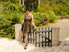 Another day, another dress. (sabine57) Tags: stockings hat drag tv pumps highheels dress cd crossdressing tgirl transgender tranny transvestite handbag crossdresser crossdress nylons travestie transvestism