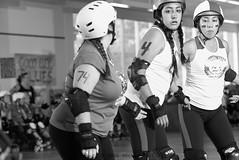 gromshells_vs_angelcity_L1062319 1 (nocklebeast) Tags: ca usa scottsvalley rollerderby rollergirls skates groms thepenthouse angelcityderbygirls santacruzderbygroms gromshells angelcityjuniorderby