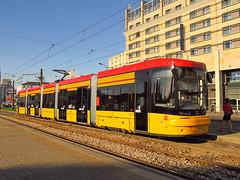 "PESA 128N ""Jazz-Duo"", #3640, Tramwaje Warszawskie (transport131) Tags: jazz tram warsaw warszawa tramwaj pesa ztm jazzduo 128n"