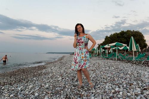 Nastya on Rhodes