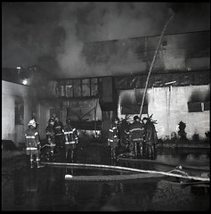 2015-10-29 Throwback Thursday from 10.29.1968 (Official New York City Fire Department (FDNY)) Tags: york nyc rescue building water vintage fire smoke flames collapse 1960s firefighting firefighter fdny tbt new city super fire engine truck thursday aerial ladder suppression throwback pumper