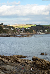 A view of Looe (thecheekyscamp) Tags: sea beach clouds rocks cornwall viewpoint