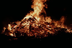 Bonfire Night (Crisp-13) Tags: orange guy night dark fire flames burning burn bonfire plot gunpowder fawkes