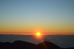 Haleakala Sunrise (kwschaff) Tags: travel beach night sunrise dark stars island hawaii honeymoon maui haleakala crater