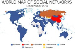 Use of social networks in the world (Doctormadrid) Tags: world map social use monde mapa mundo facebook redes networks mondo sociales qzone twitter odnoklassniki vkontakte facenama