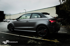 Audi A1 Satin grey/black full wrap (Sean at Monsterwraps Ltd) Tags: auto uk cars wrapping wrapped wrap automotive turbo german modified a1 s1 southampton audi 3m vag supercharged quattro customised pistonheads carwrap tsfi wrappedcars 3m1080 monsterwraps 3mavw wrappedworld wrappedlife