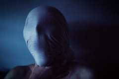 Suffocation (Allison Coles) Tags: blue scary fear sheet suffocate conceptualphotography allisoncolesphotography