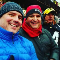 Lederman Brothers - Josh the Iowa fan, Dan the Nebraska fan and David wearing blue for some reason.