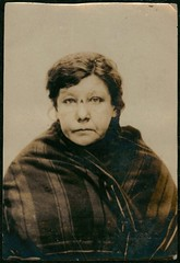 Christina Haggerty, arrested for stealing money (Tyne & Wear Archives & Museums) Tags: portrait woman eye face mouth hair nose interesting sad mr coins head mark grain stripe injury spot criminal crime purse blanket mugshot lip depressed unusual ww1 frown forehead shoulder theft southshields policestation crease wrinkle firstworldwar attentive arrested arrest stealing prisoner fascinating jh alleged northshields northtyneside socialhistory accomplice courtcase criminalrecord eightdays publicrecords boroughroad remanded neutralbackground sarahdowd chiefconstable sepiaphotograph newspaperreport digitalmage 190216 treasurynotes northshieldspolicecourt theshieldsdailynews 812norfolkstreet northshieldslocalstudieslibrary criminalfacesofnorthshieldsfirstworldwar sergtspindler microfilmcopies dionesiosmacres 9february1916 foreignseaman 11february1916 christinahaggerty brannenslodginghouse mrjhhuish