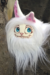 White Kitty Fluff (Scribble Dolls) Tags: cute art animal cat fur toy happy stuffed furry doll acrylic sweet handmade ooak critter small fluffy fluff plush softie fabric tiny stuffedanimal handpainted plushie faux handsewn artdoll cloth creature sewn scribbledolls