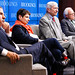 Panelists listen to audience questions at Brookings book launch: