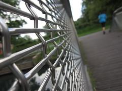 Web Runner (andressolo) Tags: bridge macro london net sport web hackney runner marshes
