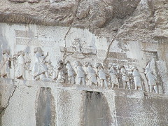 Behistun Inscription (Historystack) Tags: sculpture mountains art writing cuneiform unescoworldheritagesites dariusi behistuninscription mountbehistun