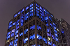 Luminaire Gramercy [5912] (Joel Raskin) Tags: nyc newyorkcity blue building night manhattan apartmentbuildings luminaire 1stave e23rdstreet luminairegramercy