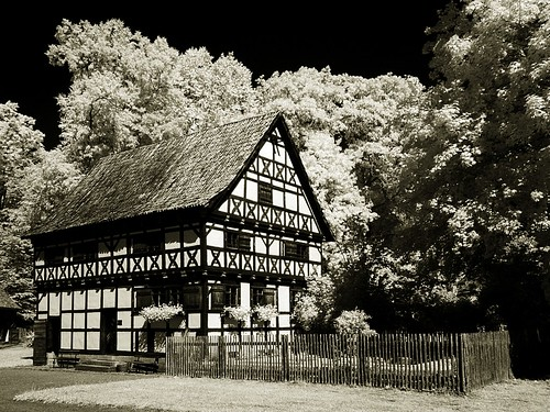 Infrared - Half timbered house