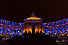 The many colors of the Denver City and County Building