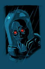Mr Freeze (simeon genew) Tags: portrait illustration dark character cartoon victor fries freeze batman gotham powderblue