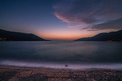 Dusk (Vagelis Pikoulas) Tags: dusk twilight sea seascape long exposure porto germeno greece september autumn 2016 colour colours canon 6d tokina 1628mm landscape view beach sun sunset clouds cloud cloudy sky europe