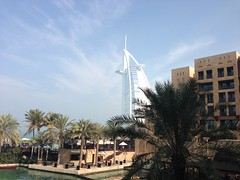 Burj in veil clouds (kaidenhollander) Tags: clouds veil burj al arab hotel madinat jumeirah uae dubai