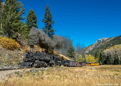 Needle Creek Canyon southbound (kdmadore) Tags: drgw denverriograndewestern durangosilverton dsng durango silverton steamlocomotive steamengine railroad train narrowgauge