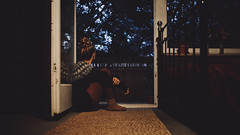 autumn comfort (the girl who made it on her own) Tags: ronakeller rona autumncomfort findingcomfort notetoself autumn sittingbythewindow autumncolours sweatercollection autumnsweater comfortablesweater bluesweater cosysocks ochresocks redtights comfortableclothes autumnclothes hairinabun thiscosyhome athome stuttgart myhome lateautumnnight autumnnight autumnbokeh bluehour