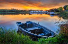 Feu sur l'Aff - Glénac - 56- (f.ray35) Tags: sunset sunlight génac morbihan bretagne breizh france barque port rivière brittany