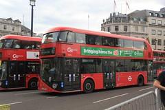 "2015 Wrightbus NBFL ""Borismaster"" #LT453 & 2014 Wrightbus NBFL ""Borismaster"" #LT2957 (busdude) Tags: trafalgar square wrightbus newbusforlondon borismaster new routemaster goahead london go ahead goaheadlondon general trafalgarsquare"