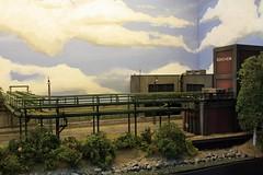 Oeversijde, by Evan Daes, H0  (02) (Rinus H0) Tags: modeltreinen modeltrains modelrailways modelleisenbahn beurs fiere expo modelspoorexpoleuven leuven 2016 oeversijde evandaes h0 187 scale schaal gauge albertkanaal geel belgium belgique belgi