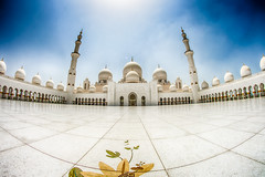 Sheikh Zayed Mosque (Ash if) Tags: sheikhzayedmosque mosque structure abudhabi bluesky clouds dome august summer tiles