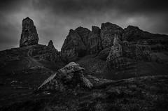 Old mann Monochrome (samueljohnkerr) Tags: oldmanofstorr oldman storr skye scottishlandscapescotland monochrome rocks rockformation